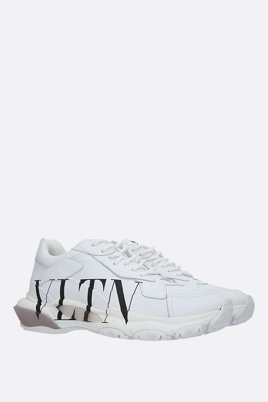 VALENTINO GARAVANI: Bounce VLTN smooth leather sneakers Color Grey_2