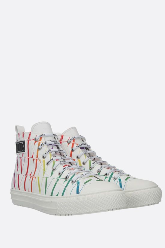 VALENTINO GARAVANI: Giggies VLTN TIMES nylon high-top sneakers Color White_2