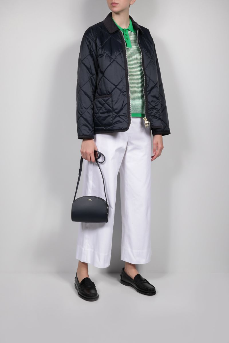 BARBOUR BY ALEXA CHUNG: Quilty quilted nylon jacket Color Blue_2