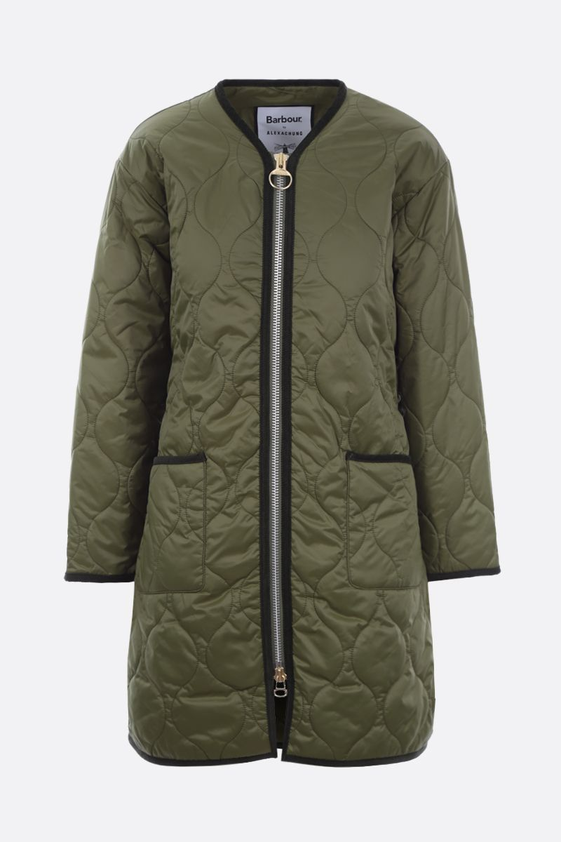 BARBOUR BY ALEXA CHUNG: Billie belt-detailed quilted nylon jacket Color Brown_2