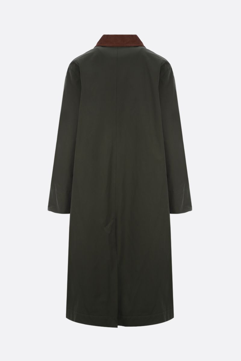 BARBOUR BY ALEXA CHUNG: Jackie technical cotton trench coat Color Green_2