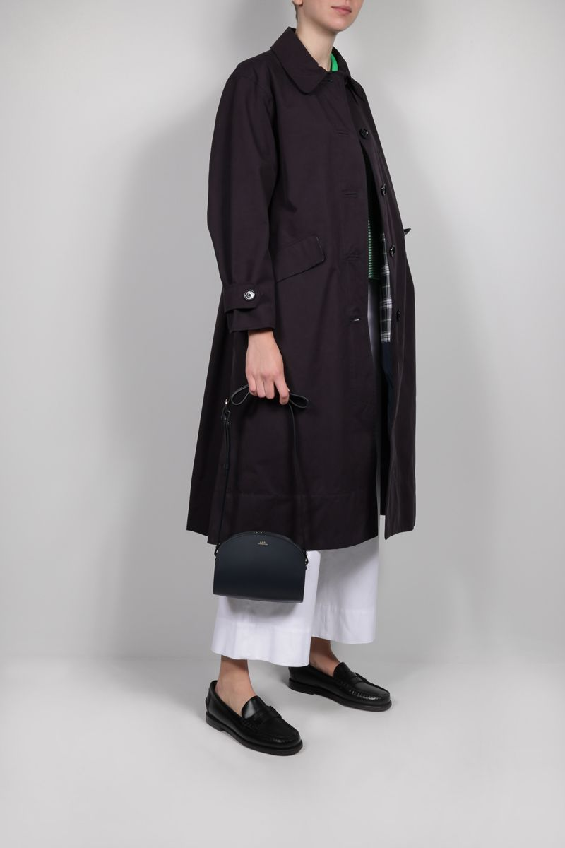 BARBOUR BY ALEXA CHUNG: Julie technical cotton trench coat Color Blue_2