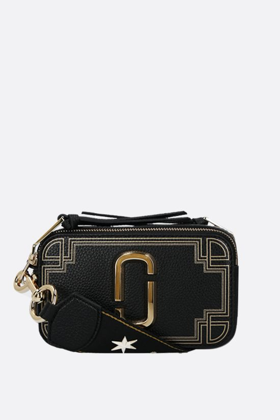 MARC JACOBS: Snapshot small grainy leather camera bag Color Black_1