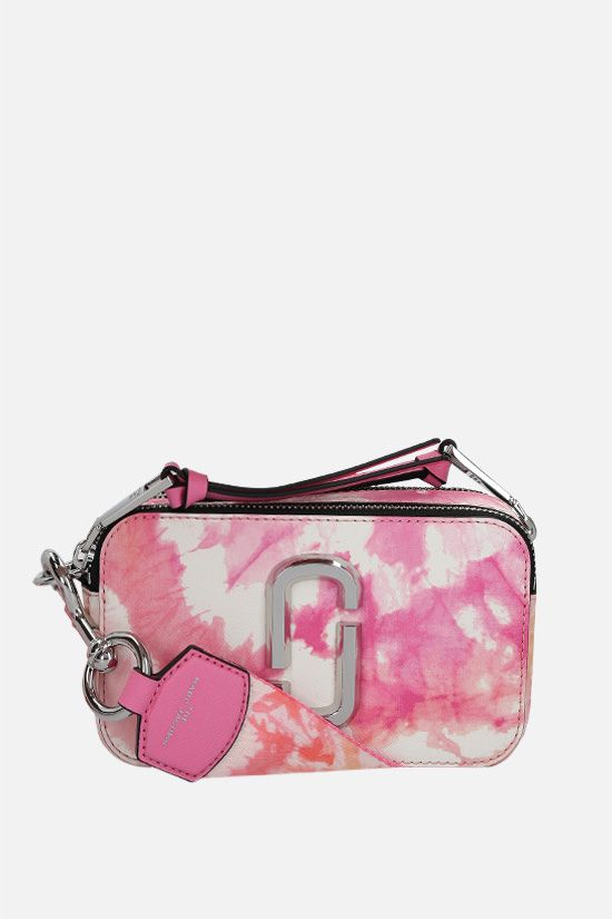 MARC JACOBS: Snapshot Tie Dye small crossgrain leather camera bag Color Pink_1