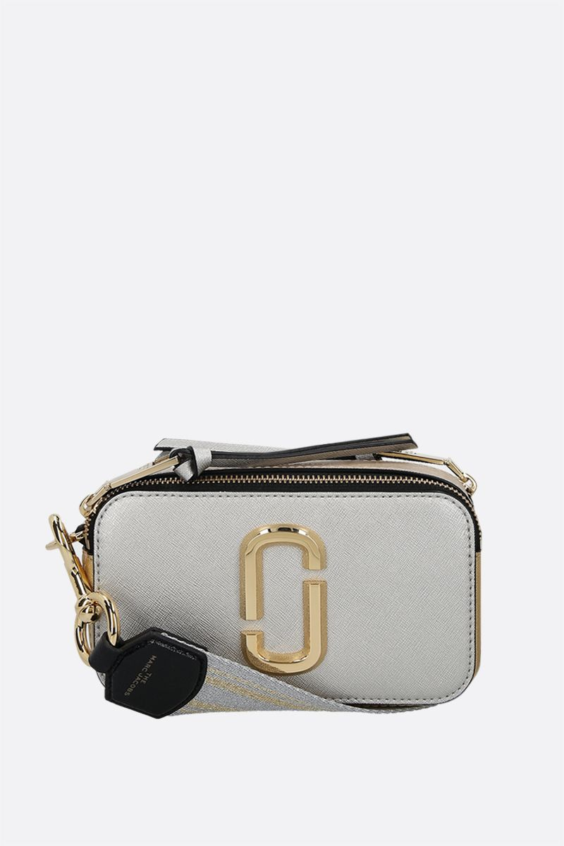 MARC JACOBS: Snapshot small crossgrain leather camera bag Color Gold_1