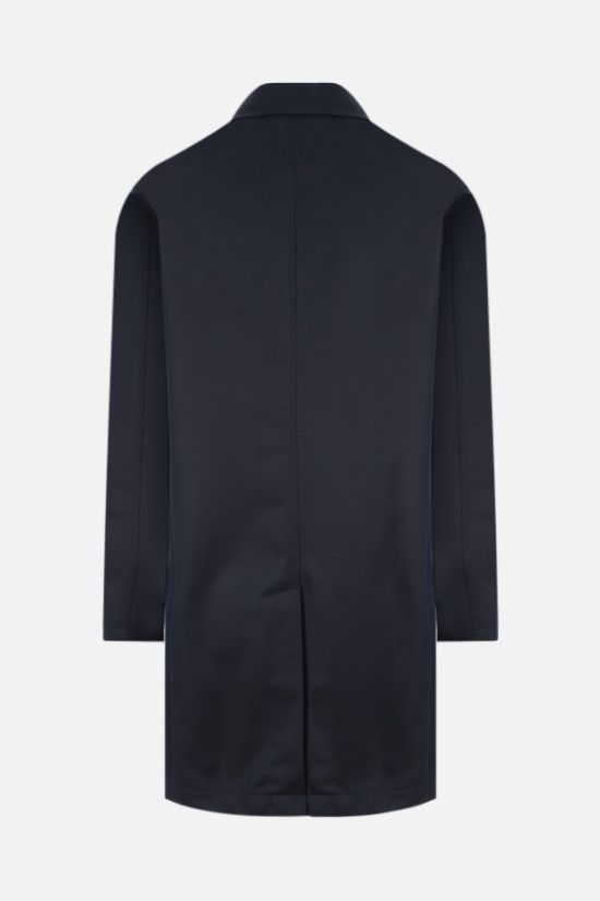 LARDINI: single-breasted twill overcoat Color Blue_2