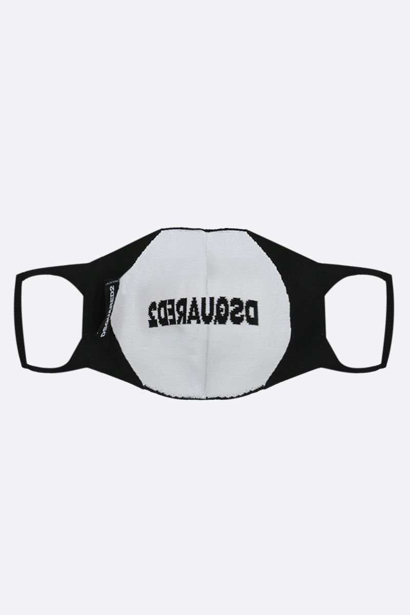 DSQUARED2: Dsquared2 technical knit face mask Color Black_2