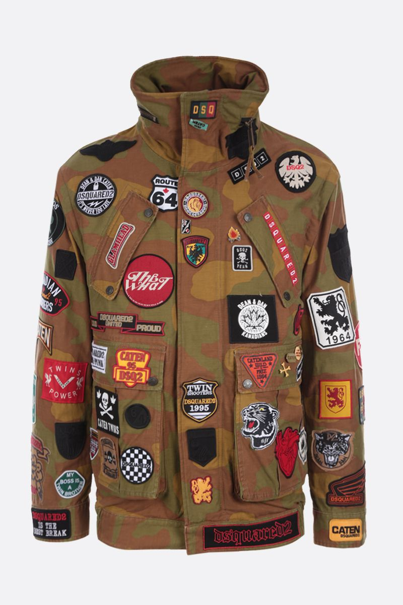 DSQUARED2: patch-detailed canvas jacket Color Green_1