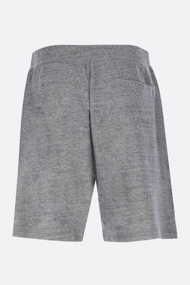 DSQUARED2: logo patches cotton shorts Color Grey_2