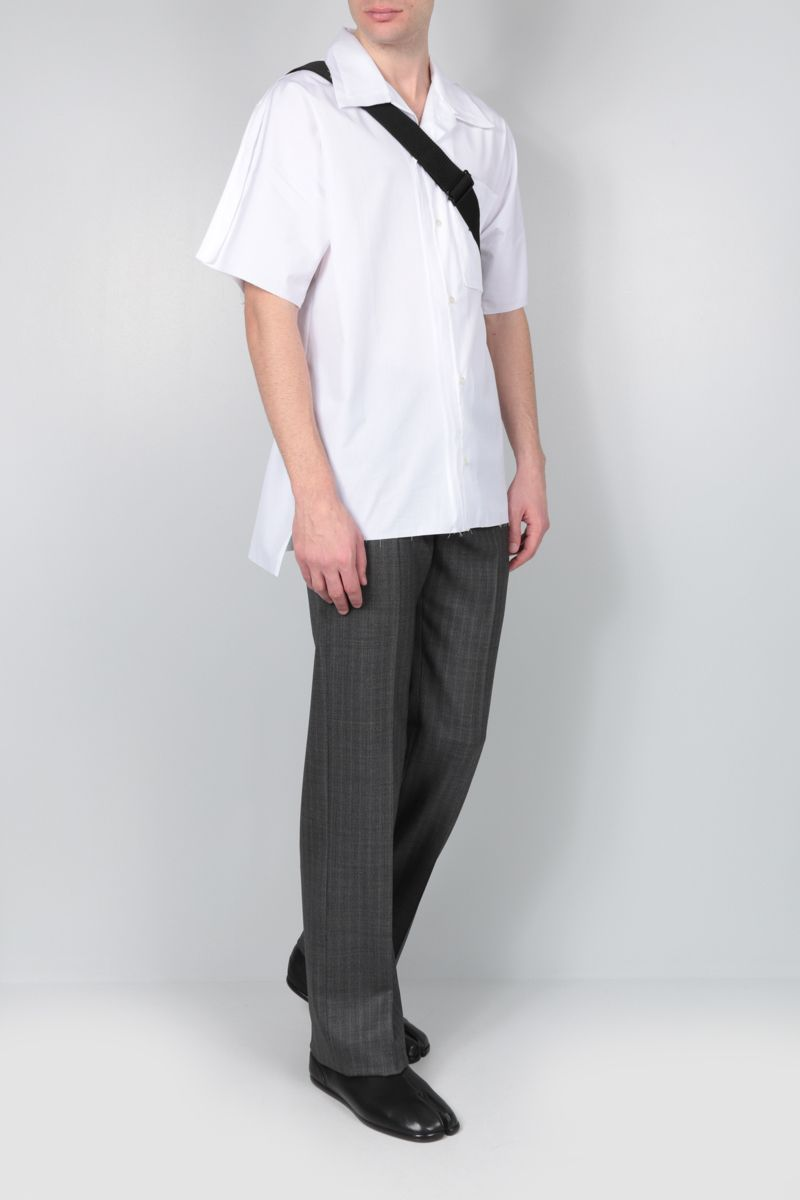 MAISON MARGIELA: Outline cotton bowling shirt Color White_2