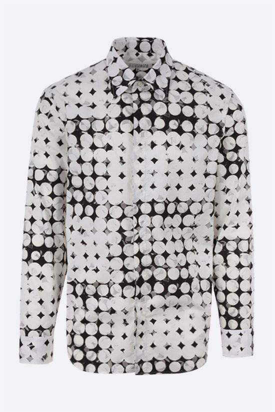 MAISON MARGIELA: pixel polka dots print cotton shirt Color White_1