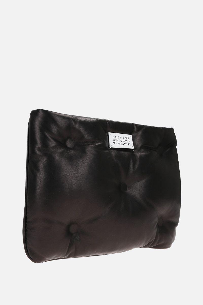 MAISON MARGIELA: Glam Slam quilted nappa clutch Color Black_2