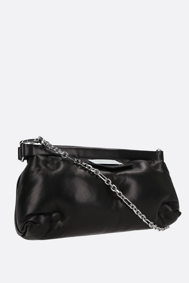 MAISON MARGIELA: Glam Slam Red Carpet quilted nappa clutch Color Black_2