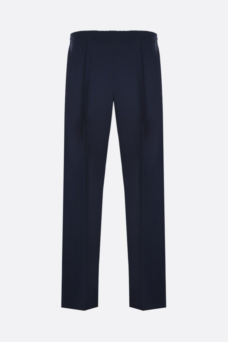 MAISON MARGIELA: wool regular-fit pants Color Blue_1