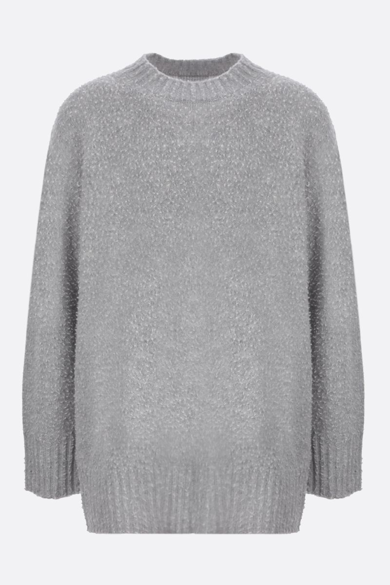 MAISON MARGIELA: textured wool oversize pullover Color Grey_1