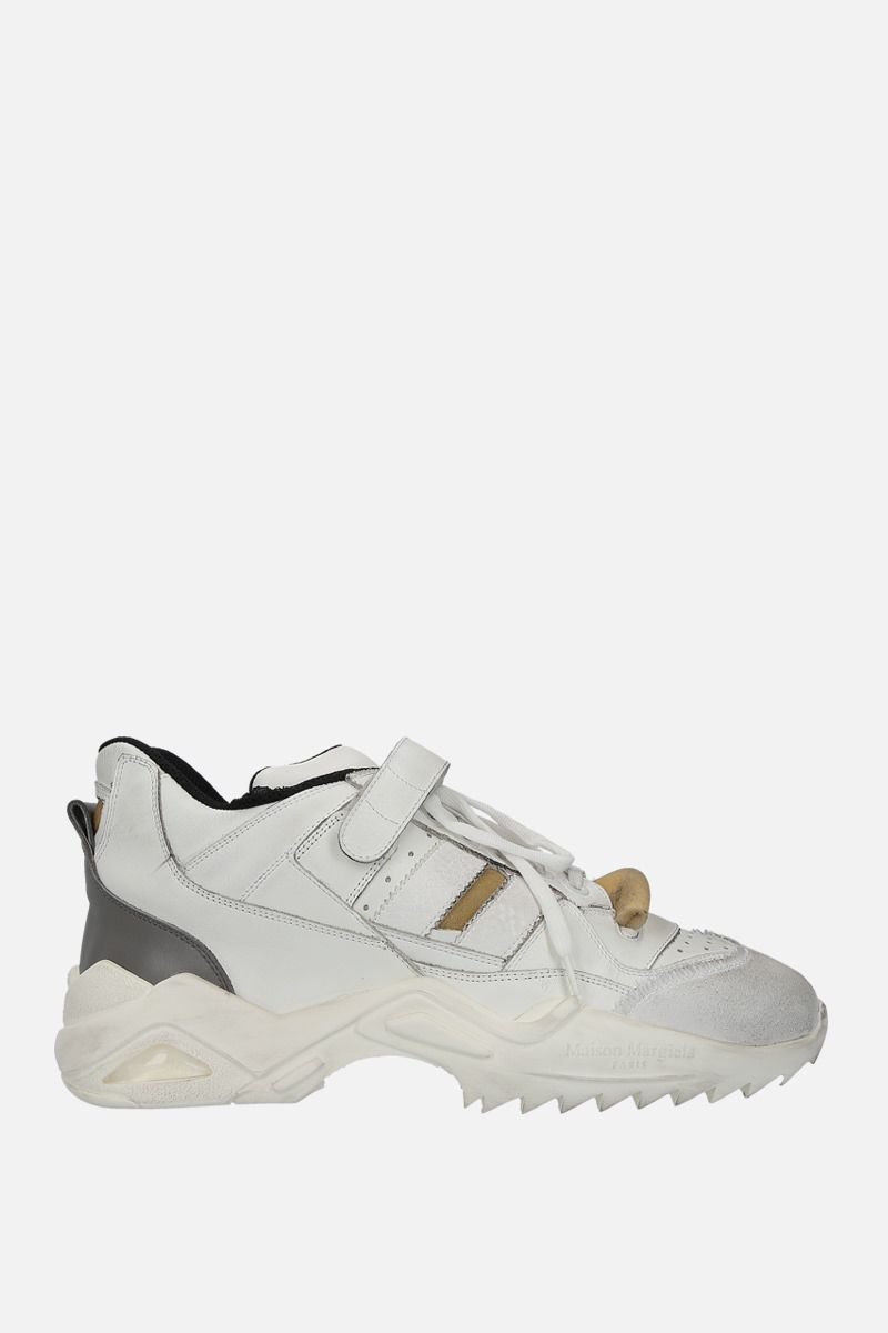 MAISON MARGIELA: Retro Fit sneakers in leather and sponge details Color Multicolor_1