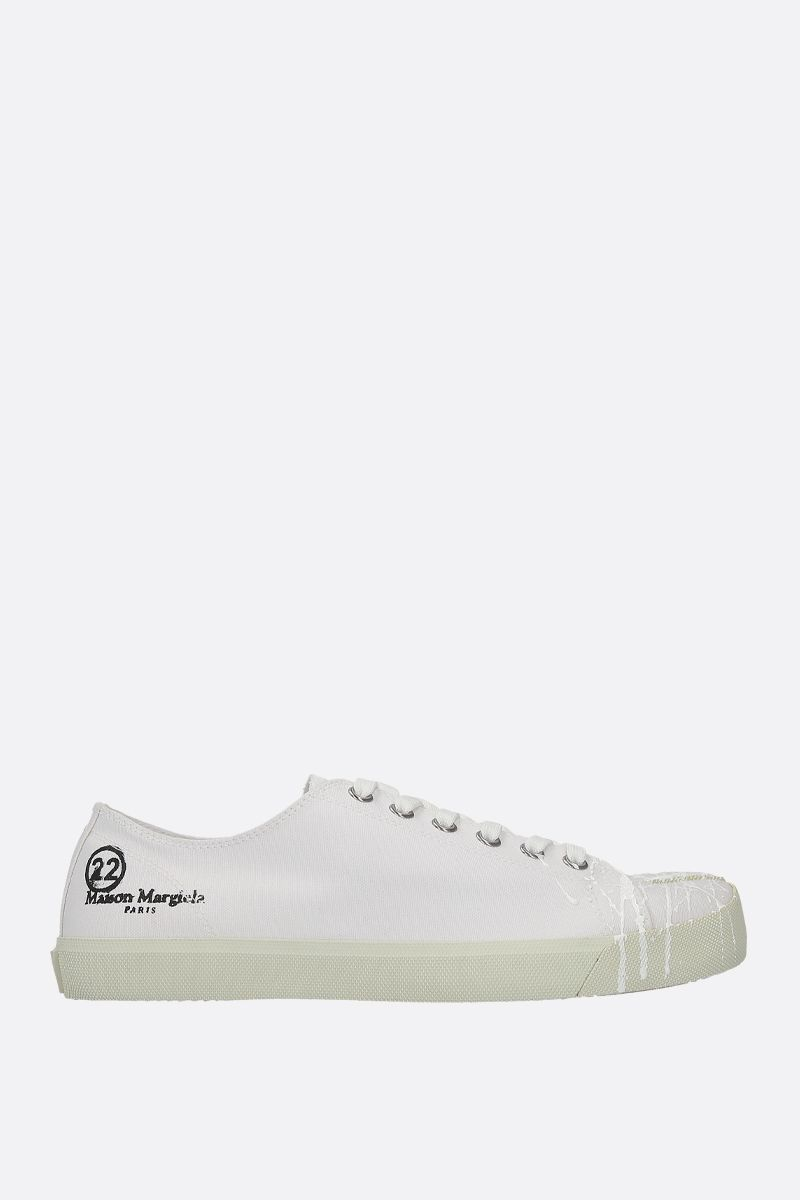 MAISON MARGIELA: Tabi canvas sneakers Color White_1