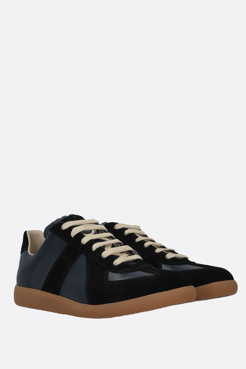 MAISON MARGIELA: Replica smooth leather and suede sneakers_2