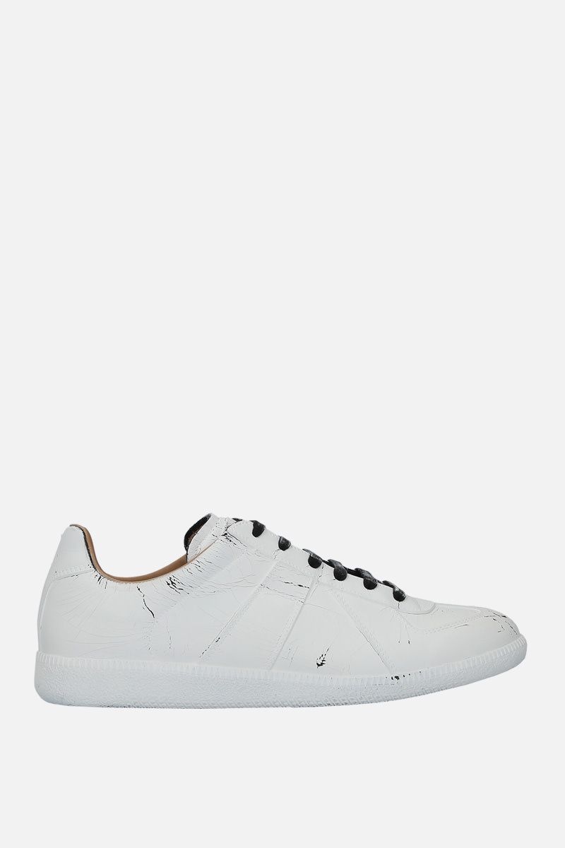 MAISON MARGIELA: Replica suede sneakers Color White_1