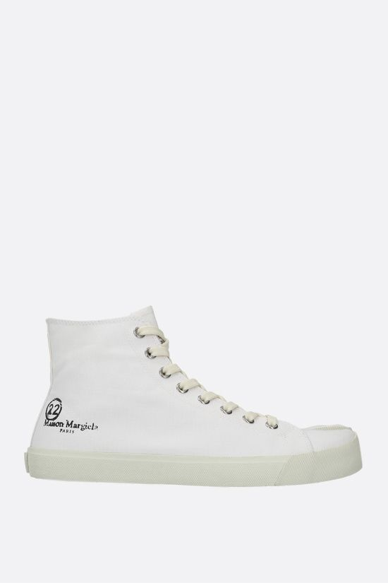 MAISON MARGIELA: Tabi canvas high-top sneakers Color White_1