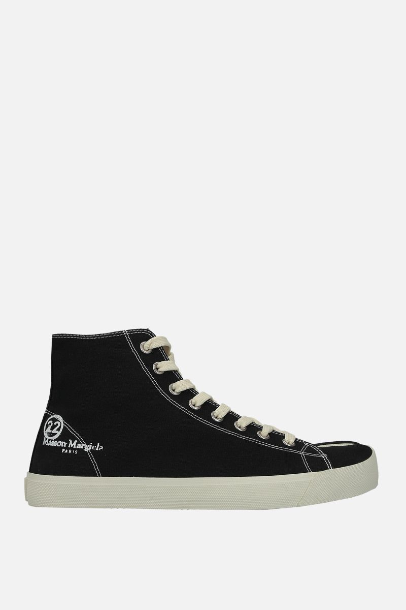 MAISON MARGIELA: Tabi high-top sneakers in canvas Color Black_1