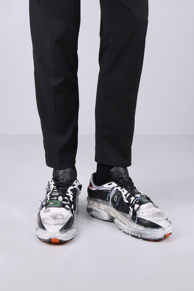 MAISON MARGIELA: Fusion sneakers in mesh and smooth leather Color Multicolor_2