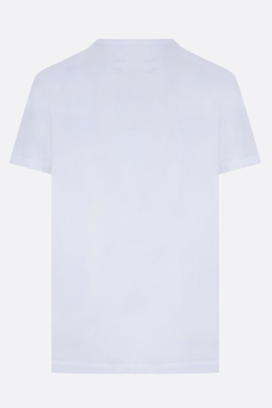 MAISON MARGIELA: logo embroidered cotton t-shirt Color Multicolor_2