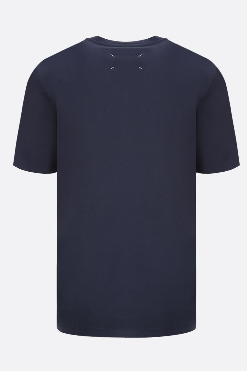 MAISON MARGIELA: cotton t-shirt Color Blue_2