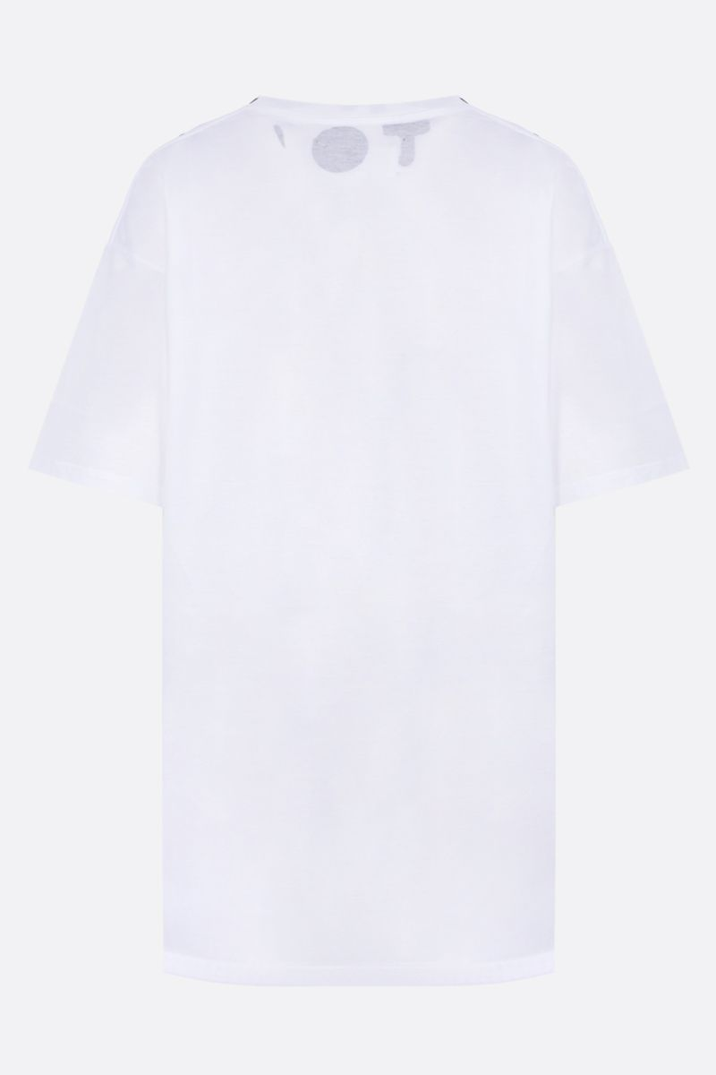 MAISON MARGIELA: t-shirt oversize Charity AIDS in cotone Colore Grey_2