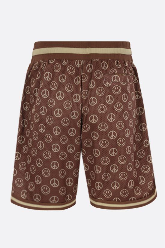 CHINATOWN MARKET: pantalone corto Smiley Cabana in mesh Colore Marrone_2