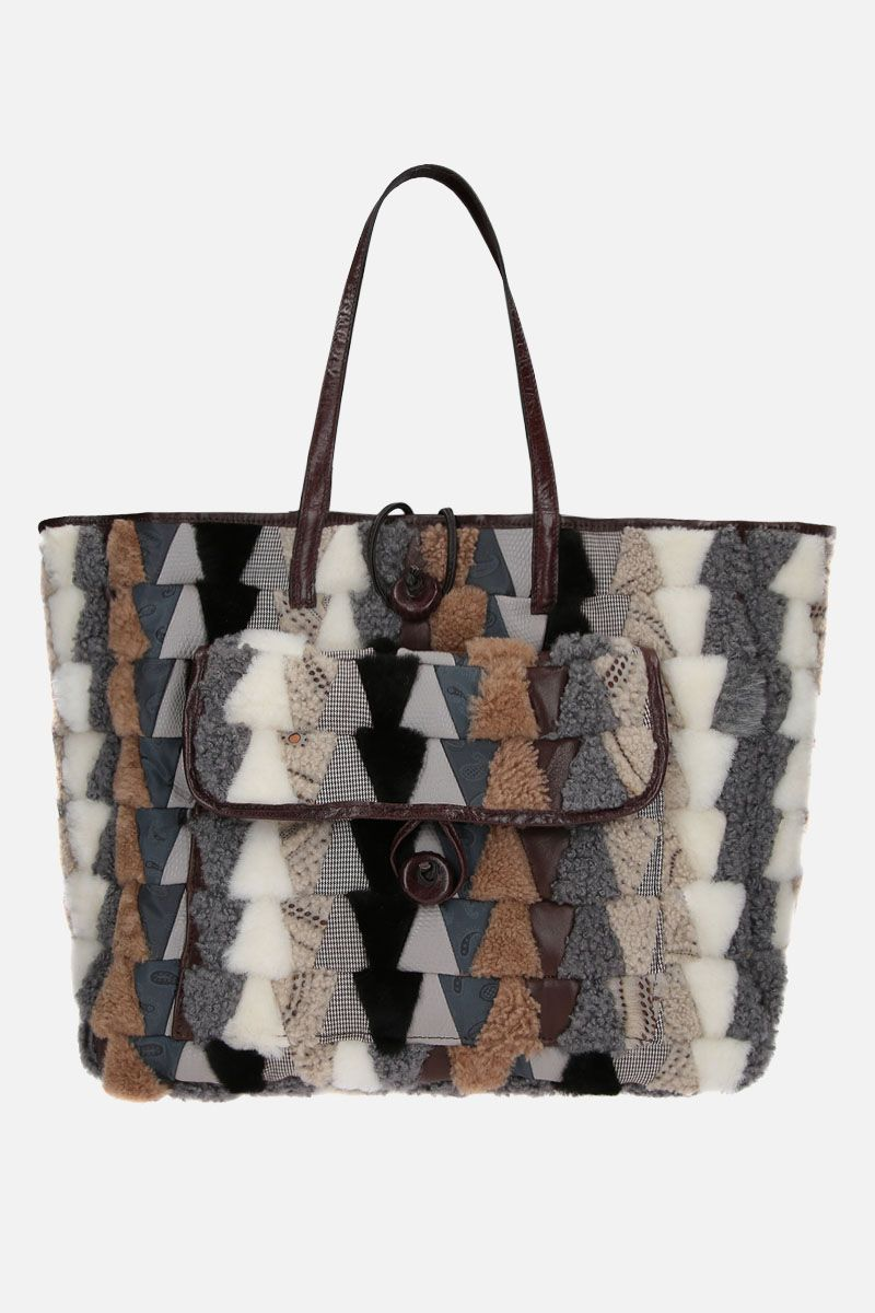 CARMINA CAMPUS: Pyramid shopper in recycled multimaterials Color Neutral_1
