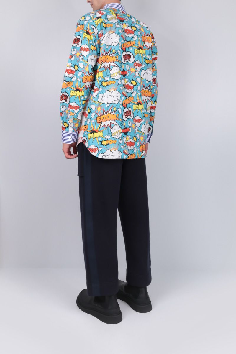 COMME des GARCONS SHIRT: comics print cotton shirt Color Multicolor_2