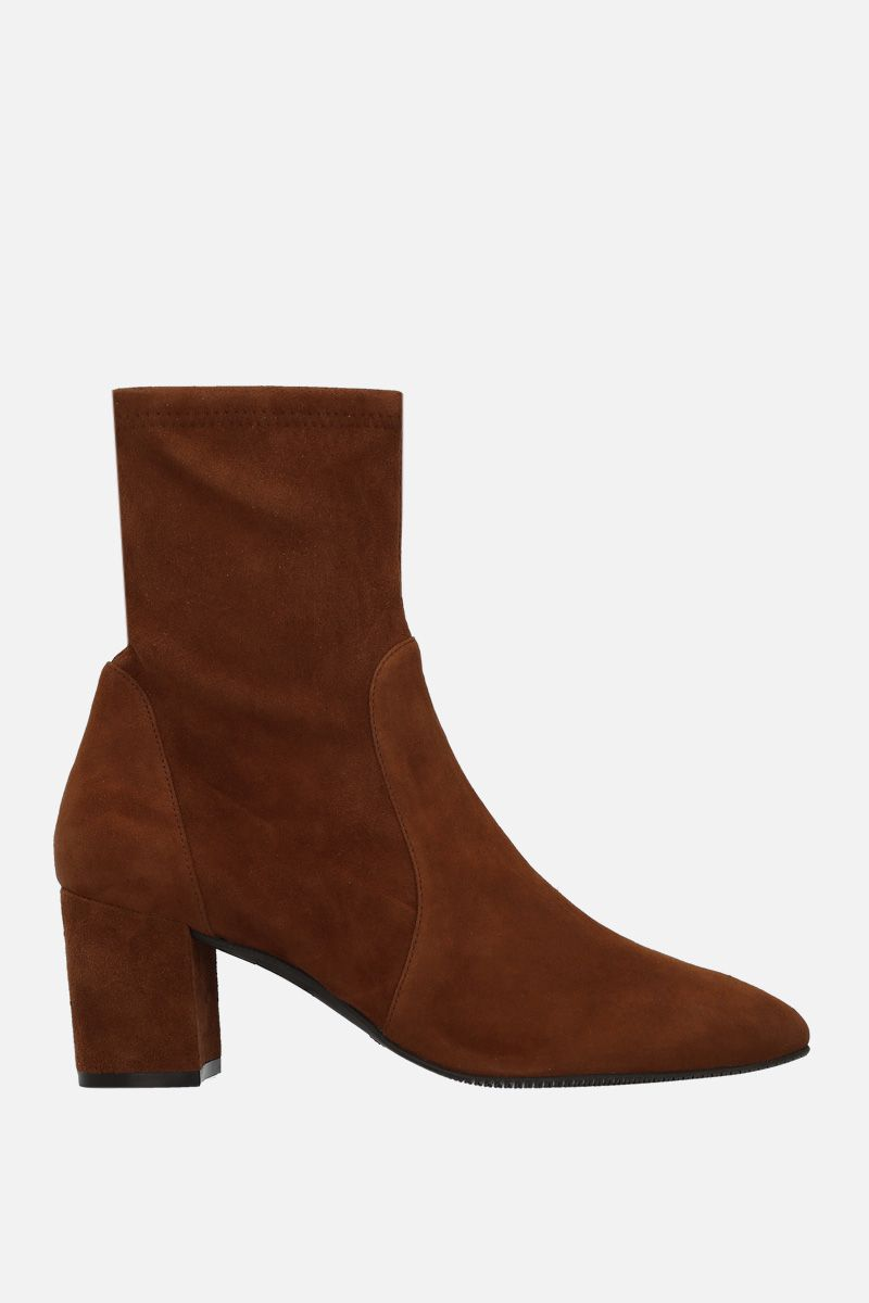STUART WEITZMAN: Yuliana ankle boots in soft suede Color Brown_1