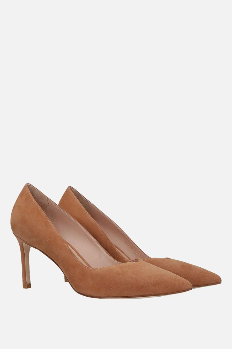 STUART WEITZMAN: Anny suede pumps Color Neutral_2