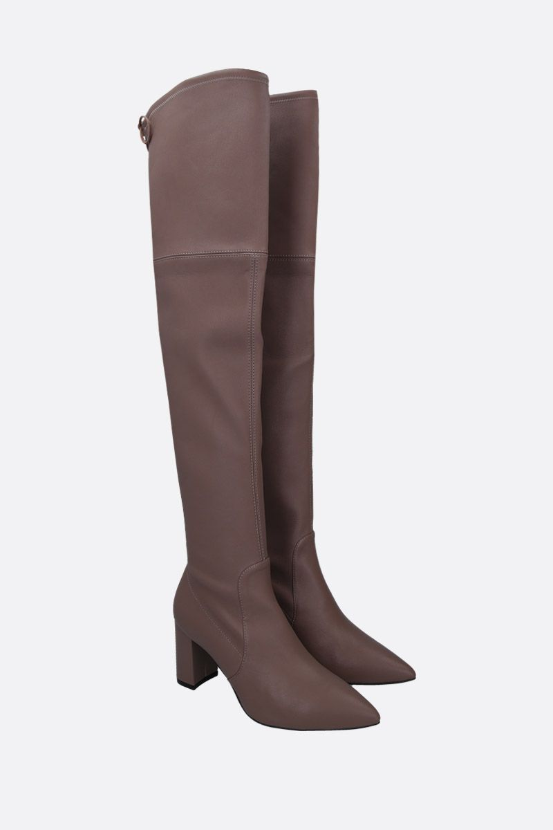 STUART WEITZMAN: Lesley over-the-knee boots in soft nappa Color Grey_2