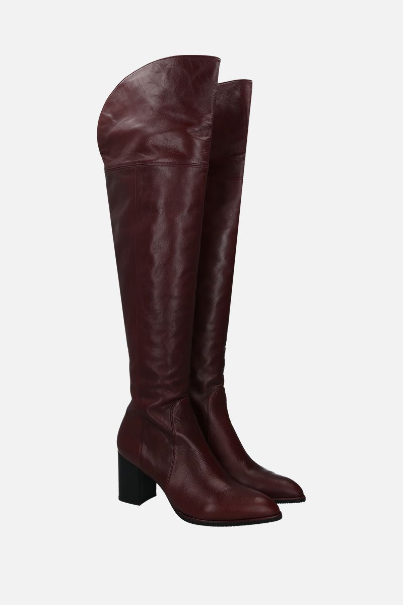 STUART WEITZMAN: Raylene soft nappa over-the-knee boots Color Red_2