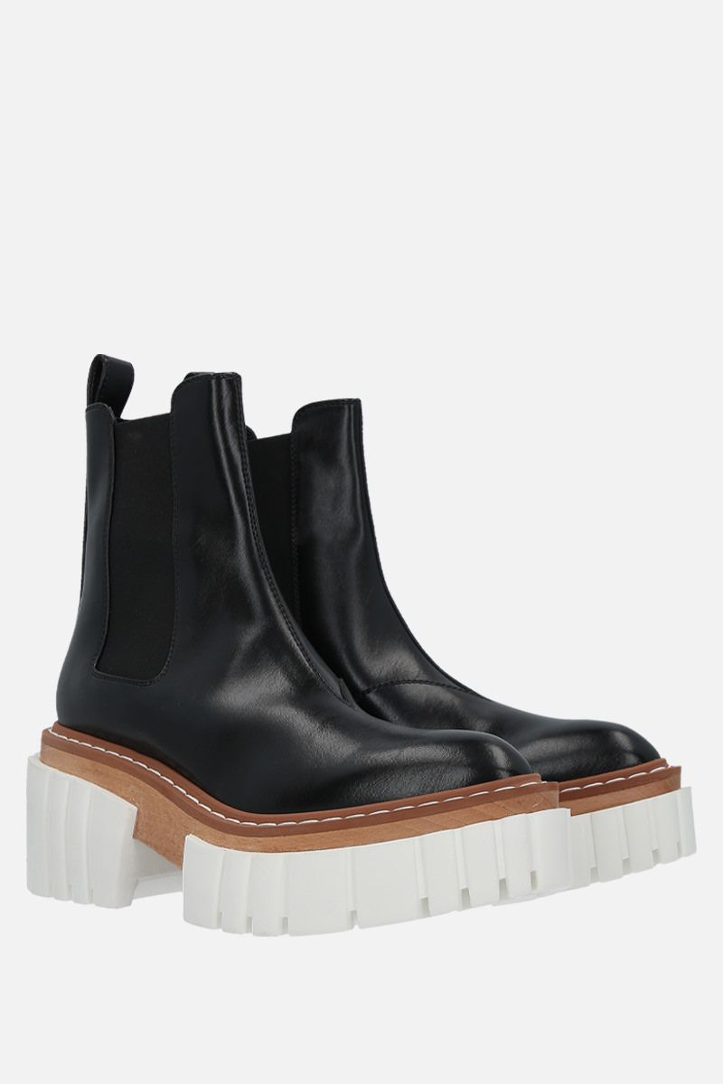 STELLA McCARTNEY: Emilie chelsea boots in Alter Nappa Color Black_2
