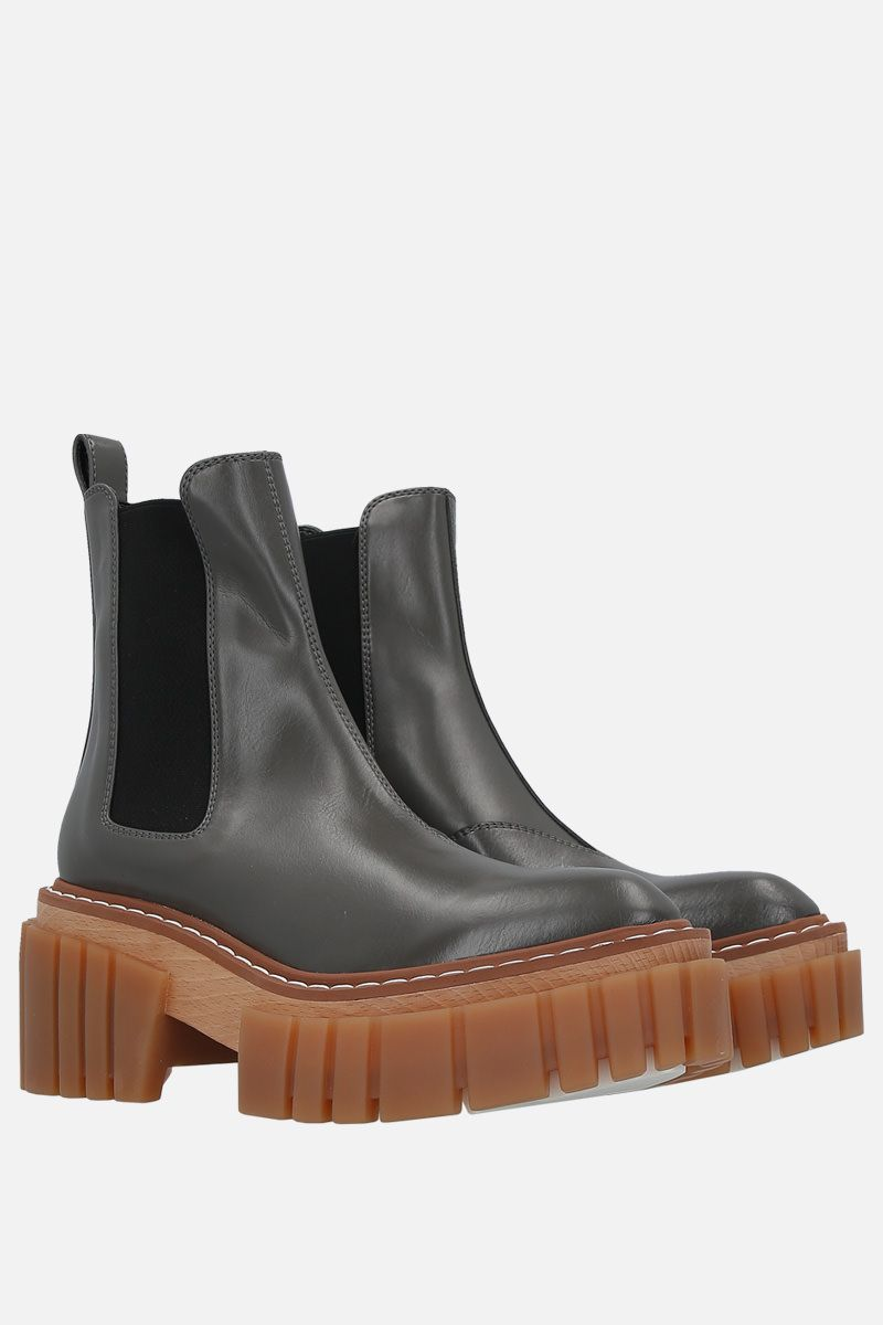 STELLA McCARTNEY: Emily chelsea boots in Alter Nappa Color Brown_2