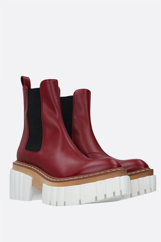 STELLA McCARTNEY: Emilie chelsea boots in Alter Nappa Color Red_2