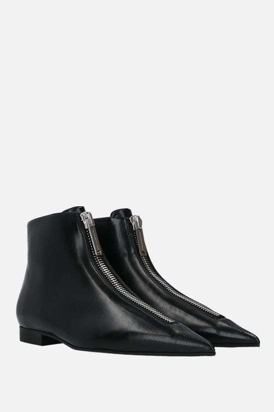 STELLA McCARTNEY: Zipit ankle boots in Shiny Alter Nappa Color Black_2