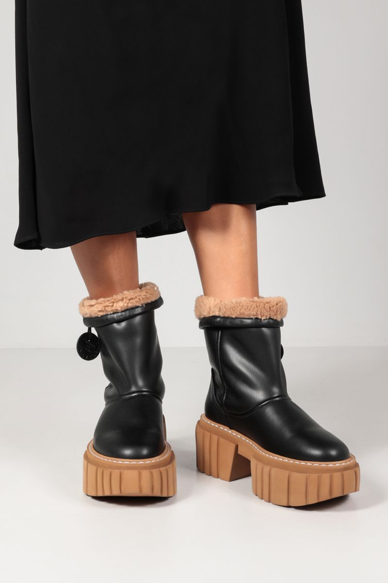 STELLA McCARTNEY: Teddy Emilie ankle boots in Alter Mat Color Black_2