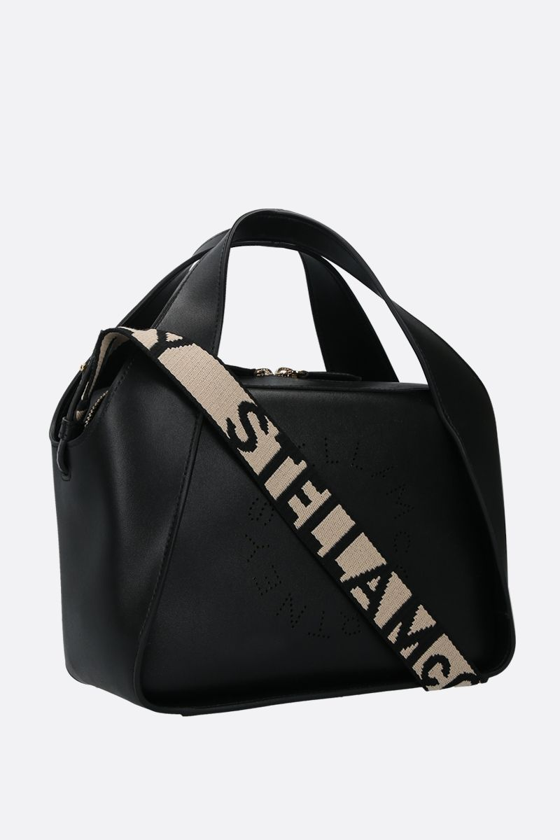 STELLA McCARTNEY: Stella Logo medium tote in Alter Nappa Color Black_2