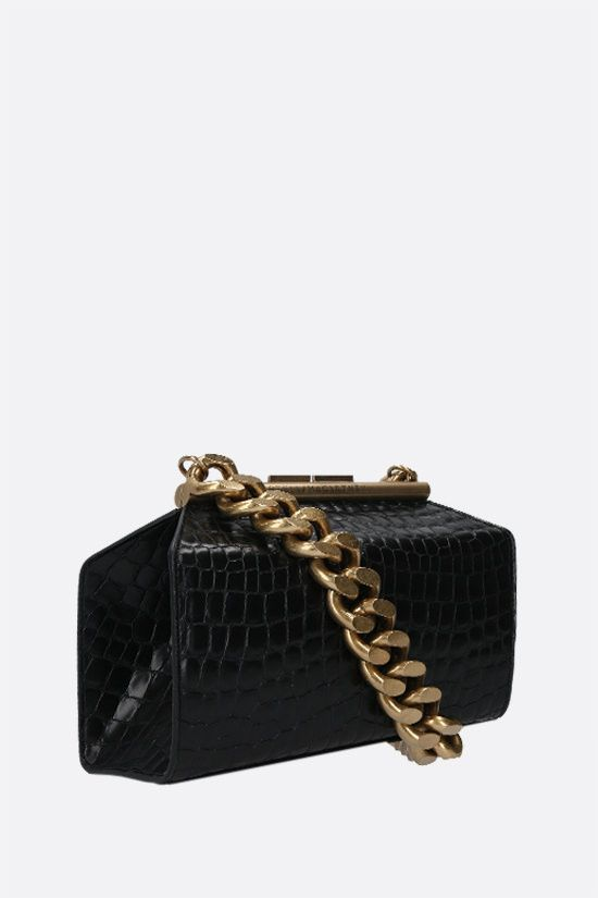 STELLA McCARTNEY: croc-embossed Alter Nappa top handle bag Color Black_2