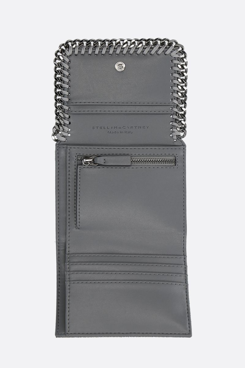 STELLA McCARTNEY: small Falabella Shaggy Deer flap wallet Color Grey_2