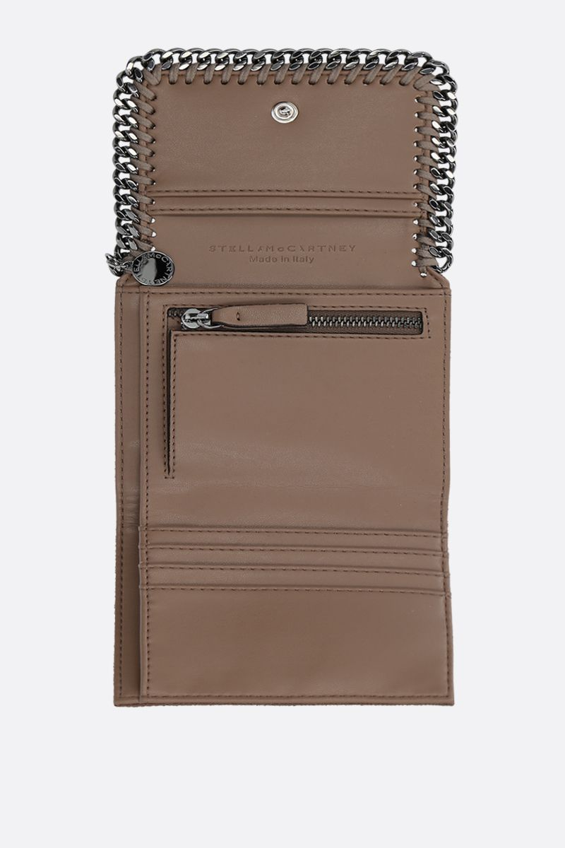 STELLA McCARTNEY: Falabella small flap wallet in Shaggy Deer_2