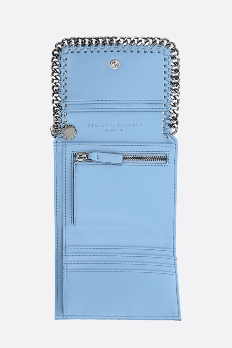 STELLA McCARTNEY: Falabella small flap wallet in Shaggy Deer Color Blue_2