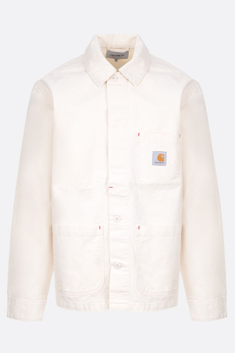 CARHARTT WIP: giacca-camicia Wesley in drill Colore Neutro_1