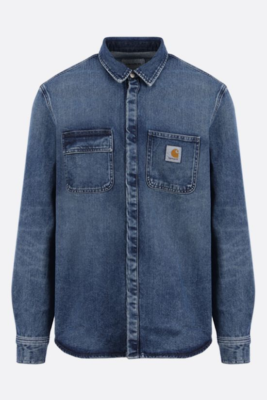 CARHARTT WIP: Salinac organic denim overshirt Color Blue_1