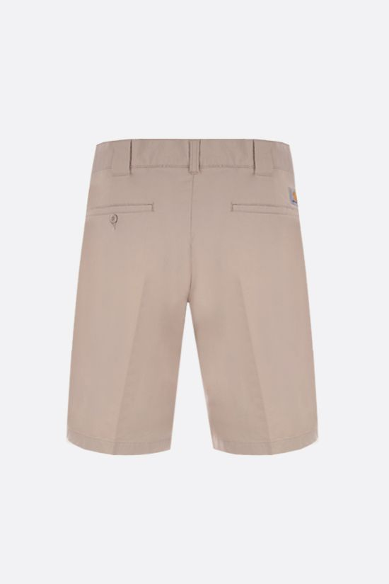 CARHARTT WIP: Master stretch cotton shorts Color White_2