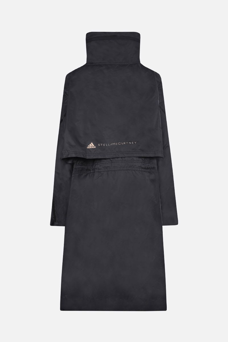ADIDAS BY STELLA McCARTNEY: logo print oversize nylon parka Color Black_2